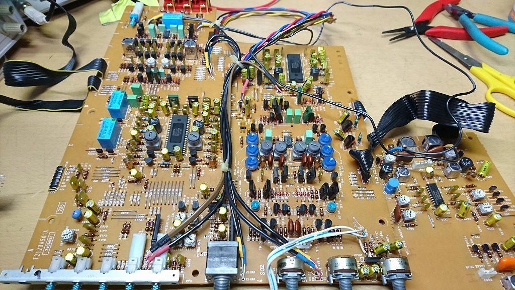 GX-Z9100EV 取り外したアンプ基板