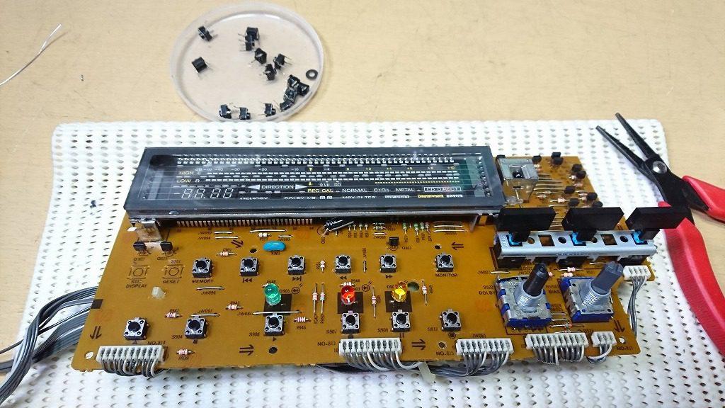 SONY TC-K222ESGメーター基板