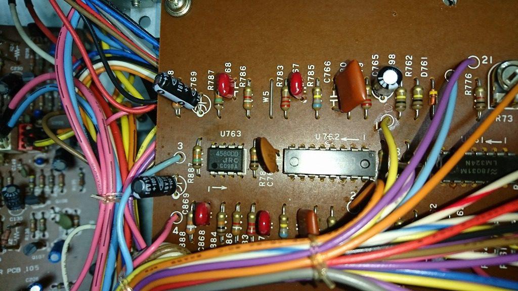 TEAC C-2X 故障したフィルムコンデンサを交換し、無事に録音機能が正常になった。