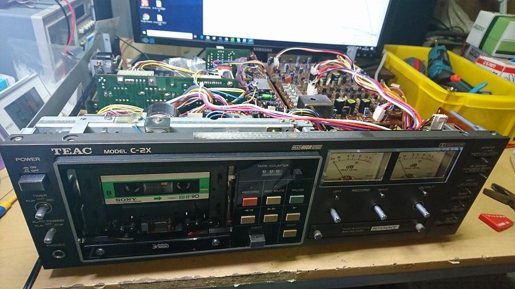 TEAC C-2X 修理開始