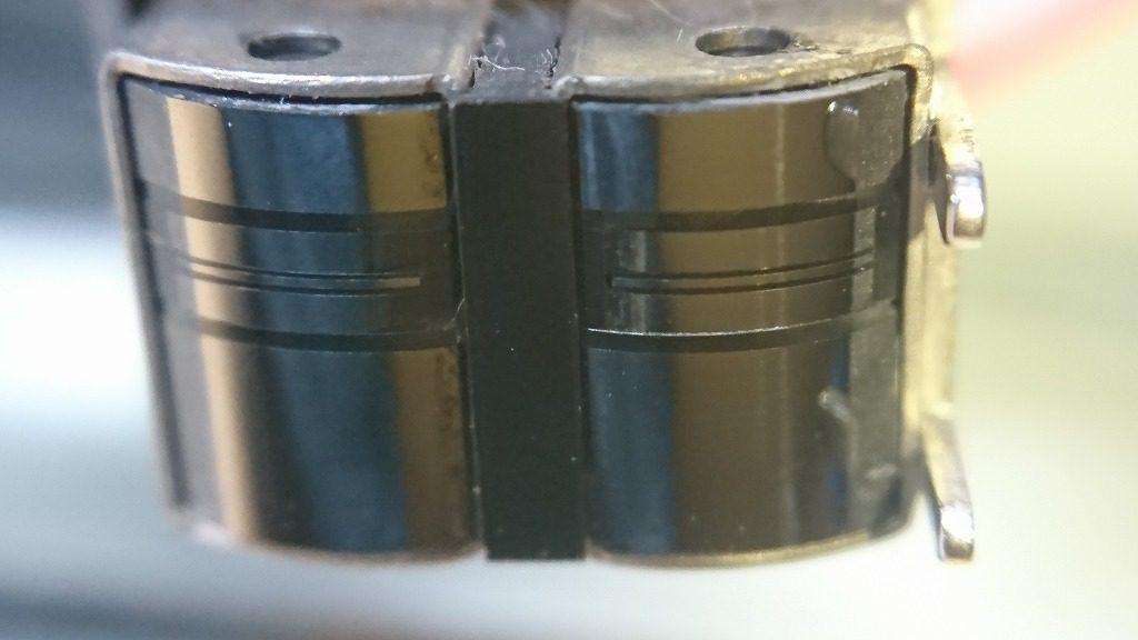 GX-Z6100のGXヘッドは、表面に段差が生じていた。これでは使い物にならない。