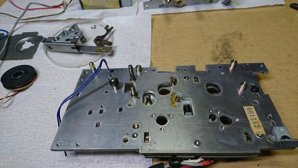 TC-K777ESⅡ 固着したレバーを外す。