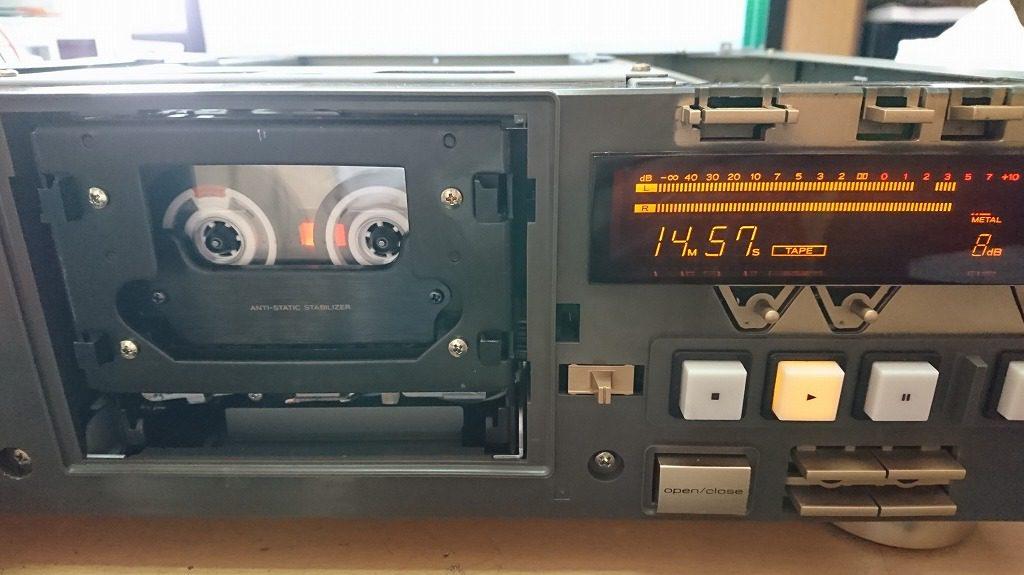 スーパーGXヘッドを搭載したV-6030SでMA-XGを再生する。