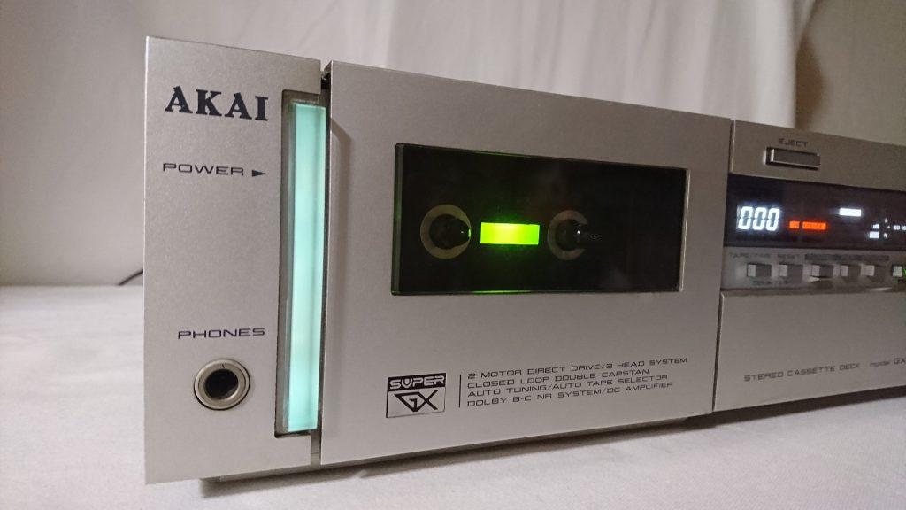 AKAI GX-F71 光る電源ボタン