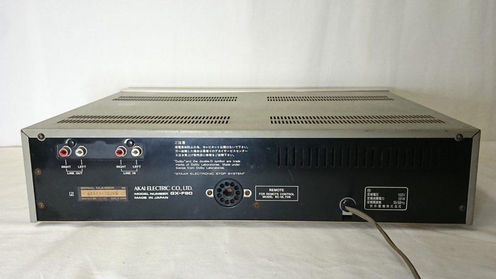 AKAI GX-F90 デッキ背面
