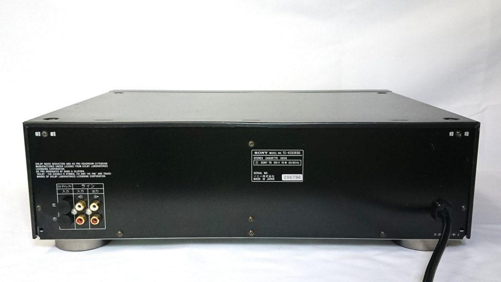 SONY TC-K222ESG デッキ背面