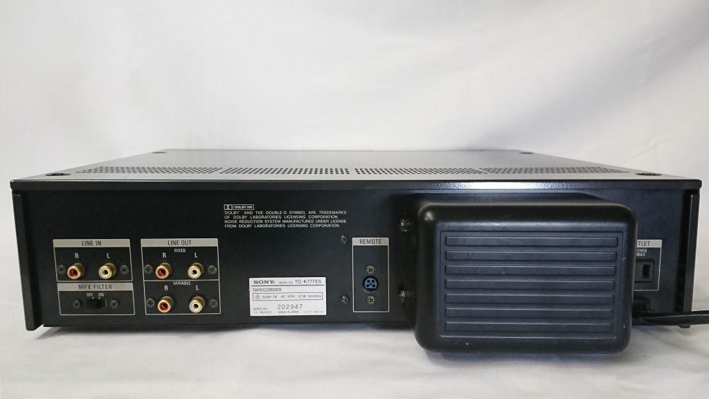 SONY TC-K777ES デッキ背面
