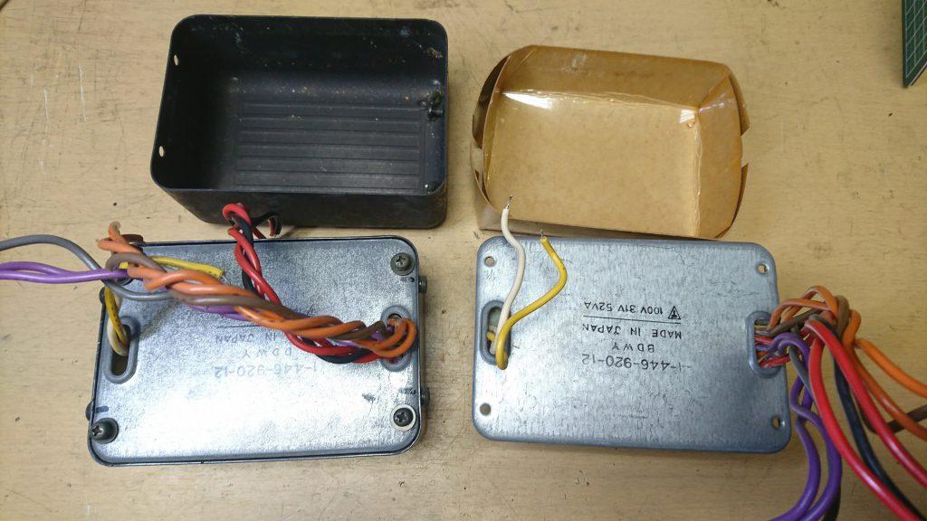 SONY TC-K777ES 電源トランス移植中
