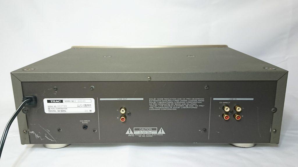 TEAC V-6030S デッキ背面